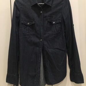 Dark Denim Jcrew denim blouse